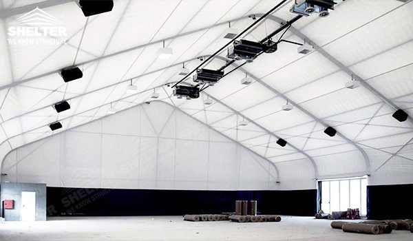 SHELTER Helicopter Hangar Tent - Aircraft Hangar - Aircraft Hangar Structures - Private Jet Hangar Structure - Airplane Hangar Tents for Sale (8)