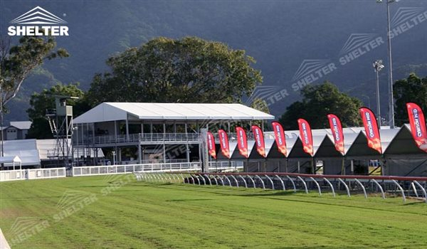 SHELTER Double Decker Tent - Sport Event Marquee - Two Story Structures - 2 Story Tensts -1