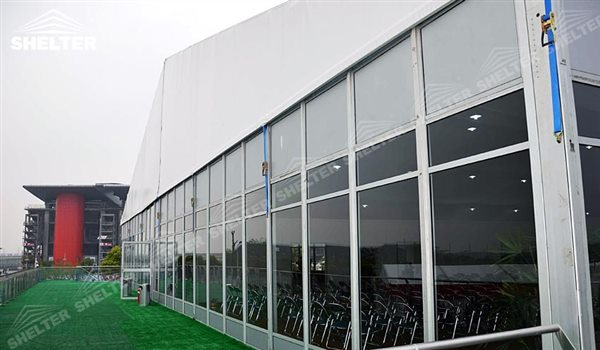SHELTER Double Decker Tent - 2 Floor Tent - Sport Event Marquee - Two Story Structures - 2 Story Tensts - 16