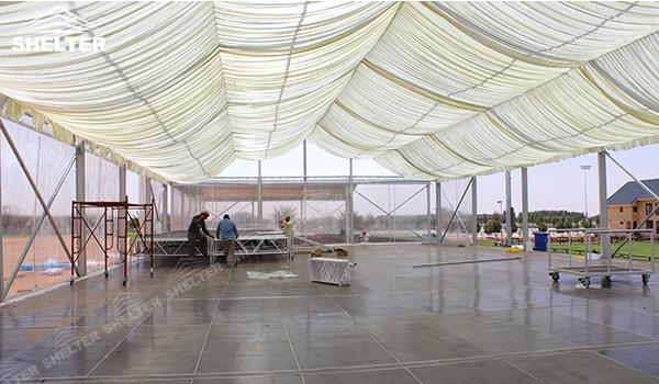 SHELTER Event Tent - Frame Tents for Churches - Commercial Marquee - Exhibition Hall - Aluminum Clear Span Structures - Large Fair Marquee for Sale (12)