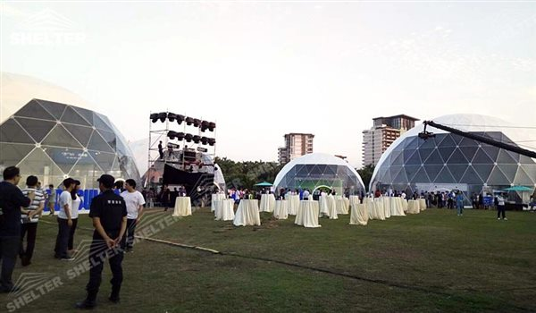 SHELTER Geodesic Domes - Dome Tent - Hemisphere Tents - Geodesic Dome Tents for Sale - Event Geodome for Sale - Wedding Marquee - Party Marquees -12