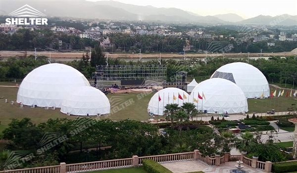 SHELTER Geodesic Domes - Event Dome - Dome Tent - Hemisphere Tents - Event Geodome for Sale - Wedding Marquee - Party Marquees - 19