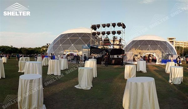 SHELTER Geodesic Domes - Dome Tent - Hemisphere Tents - Geodesic Dome Tents for Sale - Event Geodome for Sale - Wedding Marquee - Party Marquees -3