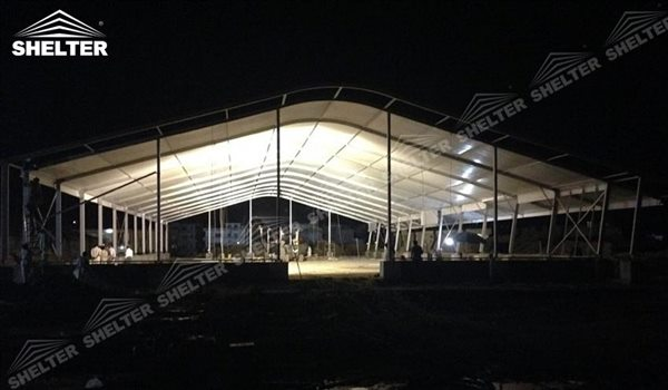 SHELTER arch tent - curved roof construction - arcum tents - large event marquee - wedding marquees for sale - 25