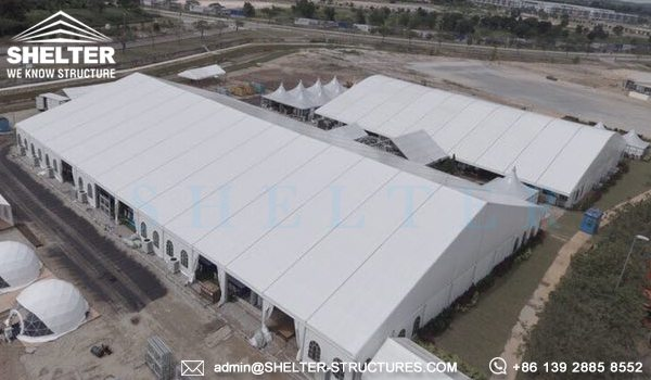 40x65m A Framed Tent for Royal Wedding - Wedding Tent Sale in Africa - Luxury Wedding Tent Structure - Shelter Structures (1)
