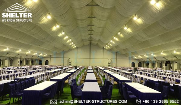 40x65m A Framed Tent for Royal Wedding - Wedding Tent Sale in Africa - Luxury Wedding Tent Structure - Shelter Structures (5)