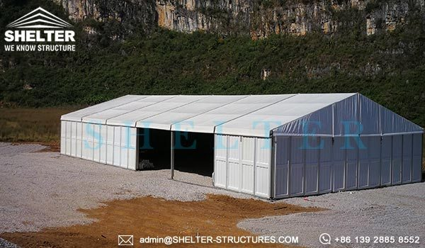 Temporary Outside Storage Tent - Temporary Warehouse Structure - Fast Erected Storage Tent for Sale - Modular Aluminum Tent for Storage - Shelter Structures (1)