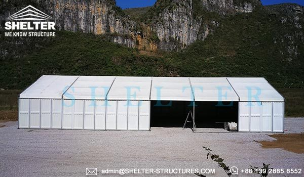 Temporary Outside Storage Tent - Temporary Warehouse Structure - Fast Erected Storage Tent for Sale - Modular Aluminum Tent for Storage - Shelter Structures (6)