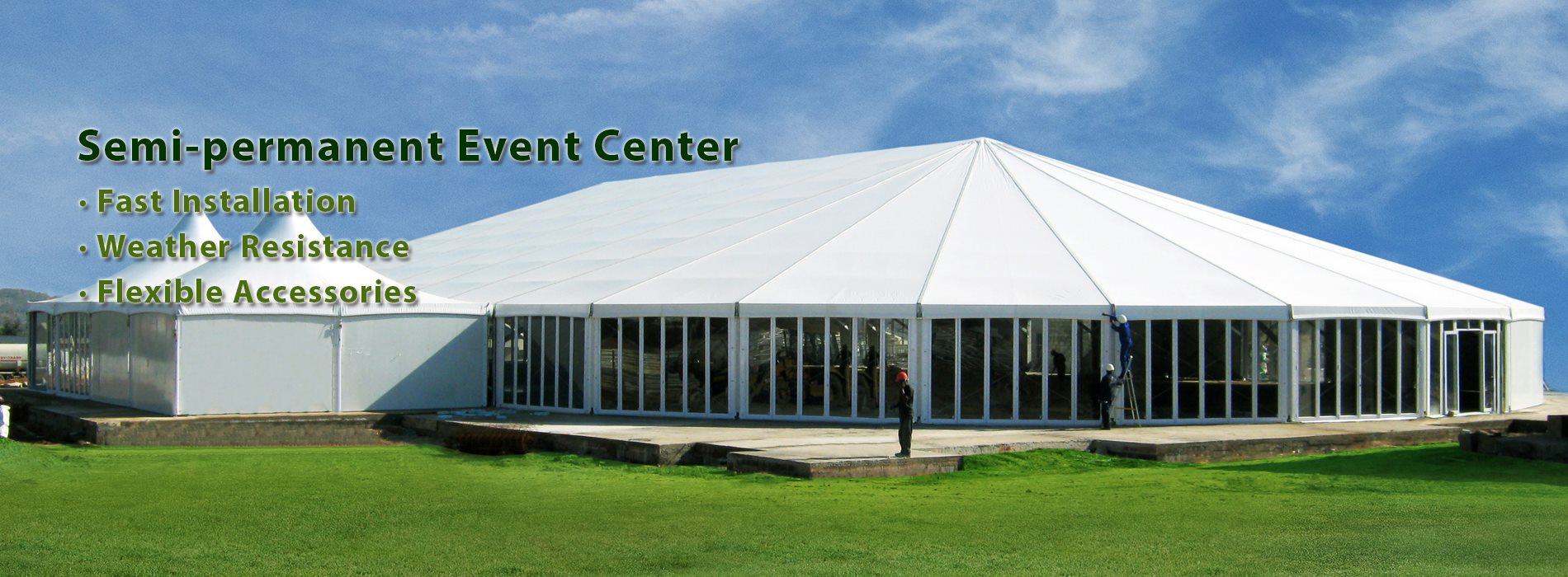 Shelter semi-permanent event tent solution in africa, nigeria 2