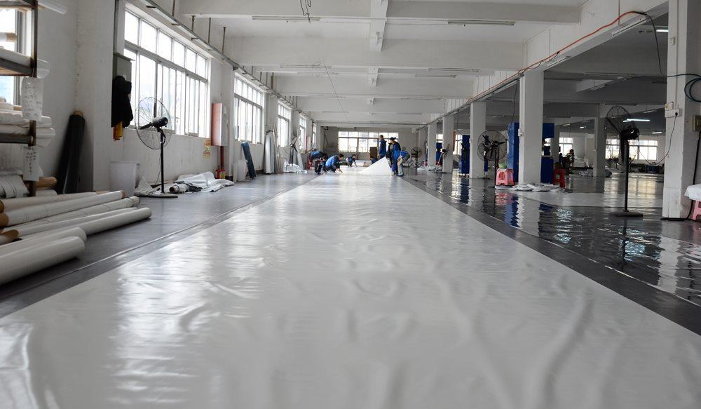 shelter clear span tent factory PVC membrane workshop